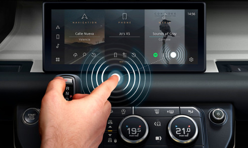 The air button on car dashboard, illustration